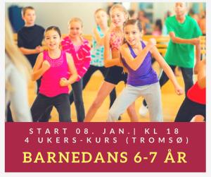 Barnedans 6-7 år ( 4 ukerskurs) Tromsø