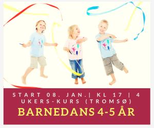 Barnedans 4-5 år (4 ukerskurs) Tromsø